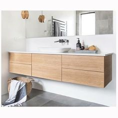 Instagram media by phoenixtapware - . R E D L I L Y R E N O V A T I O N S Another gorgeous bathroom shot from Red Lily Renovations 'Southern River' home! Timbers and greys that make our day Our Rush Wall Basin Set is featured. @redlilyrenos @houzzau