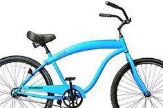 """Fito Modena Sport II Single 1-speed for Man - Matte Blue, 26"""" Wheel Beach Cruiser Bike - http://www.bicyclestoredirect.com/fito-modena-sport-ii-single-1-speed-for-man-matte-blue-26-wheel-beach-cruiser-bike/"""