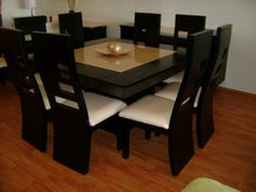 80 imágenes fascinantes de comedores modernos de madera   Dining ...