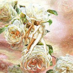 Mixed Media - Snow Rose Ballet by Carol Cavalaris