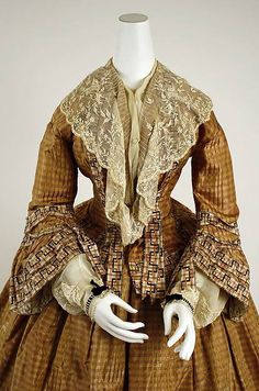 Dress Date: ca. 1856 Culture: British Medium: silk