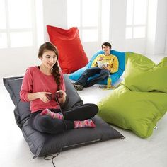 You'll need one of these to make your downtime the best time. Back To School Deals, Canada Shopping, Online Furniture, Bean Bag Chair, Indoor Outdoor, Mattress, Teen, Comfy, House Styles