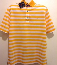 Paul&Shark Yachting AUTHENTIC Stripes Mens Cotton Italian Polo T-Shirt Sz L $299 #PaulSharkYachting #PoloRugby
