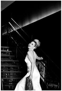 hollywood glam, bridal portraits, black and white photography copyright @Kristin Vining Photography Charlotte, NC Wedding Photographer