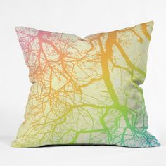 Shannon Clark Bright Branches Throw Pillow | DENY Designs Home Accessories