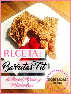Maca, oats and almonds healthy bars recipe. Delicious!