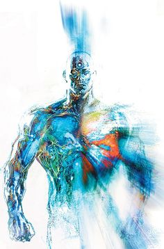 Watchmen - Dr Manhattan by Bill Sienkiewicz Comic Book Characters, Comic Character, Comic Books Art, Comic Art, Marvel Comics, Dc Comics Art, Doctor Manhattan, Manhwa, Cultura Nerd