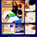 Daily Calendar Notebook...ideas and different pages to add to the one we have :)