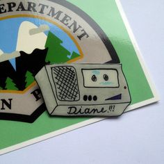 Twin Peaks magnétophone  DIANE  shrink broche en par sweetgrenadine