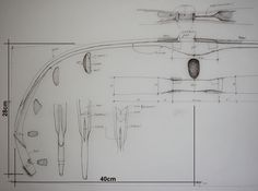 Drawing of half of the Turkish bow xrayed, by Stefan Demeter