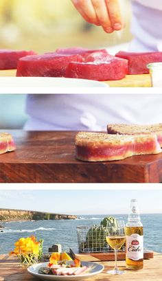 Grilled Tuna Steak and Artichoke Salad