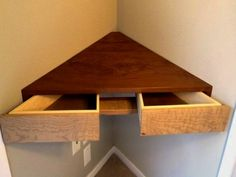 floating corner shelves with storage