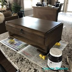 Chocolate Silverware Chest Beachy Colors, Pine Chests, Vintage Coffee, Repurposed Furniture, Decorating Blogs, Solid Wood, Old Things, Paint