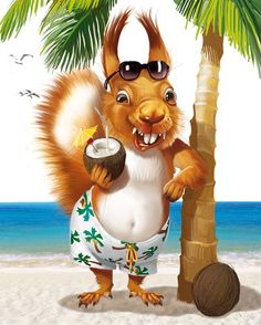 This squirrel drinks cocoa with his nuts aka coconuts 🌴 🐿 Gif Animé, Animated Gif, Animation, Cute Characters, Disney Characters, Glitter Gif, Emoji Love, Bizarre, Gif Pictures