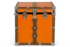 Magical theatrical trunk C. 1890. Fully refurbished and restored.