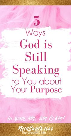 God is still speaking to you about your purpose! Don't fret...here are some ways to better discern His voice!