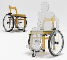 Turn a Normal Chair Into a Wheelchair with Wheel+Chair (via Universal Design Style blog). A concept that can turn a standard chair into a #wheelchair with only a few easy to assemble parts.
