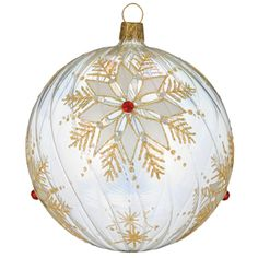 Waterford Holiday Heirlooms Gold Snowflake Ball Ornament