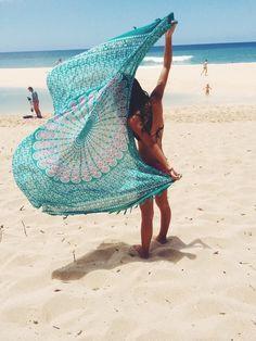 Mandala Beach Throw Tapestry