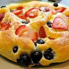 Strawberry Souffle Pancakes  (1) From: Key Ingredient, please visit