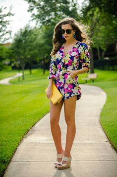 Floral Romper Styling