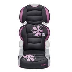 FYI: 2 In 1 Adjustable Booster Car Seat Removable Highback 4+ Years Safety Pink Gray