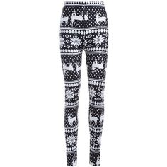 Christmas Deer Snowflake Print Leggings ($15) ❤ liked on Polyvore featuring pants, leggings, christmas leggings, deer leggings, christmas snowflake leggings, snowflake leggings and legging pants