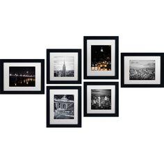 6-Piece Framed Photgraphic Print Set