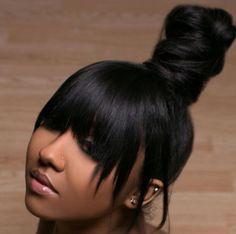 Great hair style post Get human hair bundles totallymayvenn. Flat Twist Hairstyles, Weave Ponytail Hairstyles, Ponytail Styles, My Hairstyle, Hairstyles With Bangs, Girl Hairstyles, Black Hairstyles, Long Ponytail Weave, Pretty Hairstyles