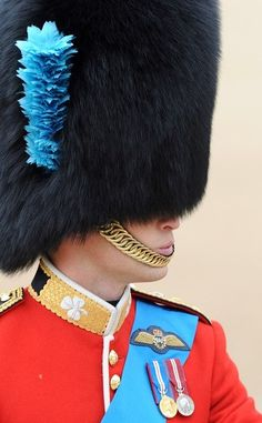 Prince William, Duke of Cambridge during the Trooping the Colour at Horse Guards Parade in London 2012.