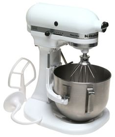 Factory-Reconditioned KitchenAid Mixer, White For Sale Kitchen Aid Appliances, Specialty Appliances, Kitchen Aid Mixer, Kitchenaid Professional, Hand Held Blender, Coffee Machines For Sale, Espresso Coffee Machine, Best Blenders, Electric Mixer