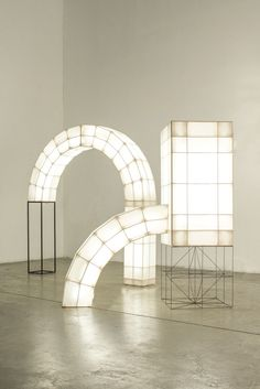 Space Frames, a collection of abstract light volumes designed by Studio Mieke Meijer.