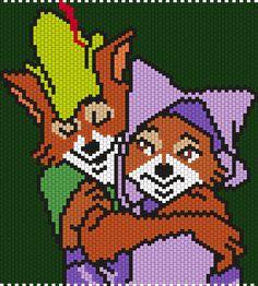 Robin Hood And Maid Marian by Maninthebook on Kandi Patterns