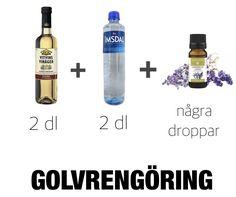 Gör egen rengöringsmedel Vinager, Bra Hacks, Vodka Bottle, Personal Care, Cleaning, Drinks, Diy, Bra Tips, Homemade