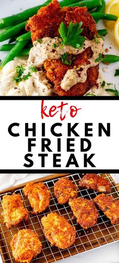 Looking for keto comfort food than never fails to satisfy? You are going to go wild for this Keto Chicken Fried Steak. With a delicious sour cream gravy, this crispy fried steak is an easy low carb meal that the whole family will love. Low Carb Meal, Healthy Low Carb Recipes, Ketogenic Recipes, Keto Recipes, Keto Meal, Easy Recipes, Healthy Carbs, Protein Recipes, Oven Recipes