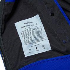 Stone Island Soft Shell Hooded Jacket (Bluette)