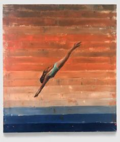 "Saatchi Art Artist Sara Roberts; Painting, ""Late Afternoon Dive"" #art"
