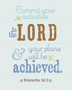 HomeLife Magazine — Printable Scripture Word Art: Proverbs 16:3