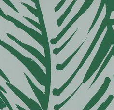 Hermès Wallpaper - Feuillage Wallpaper designed by Raoul Dufy in Mint
