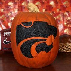 Kansas State Wildcats 12'' Resin Decorative Pumpkin