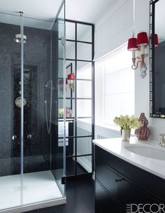 Black and White Shower Room