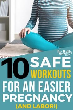 A list of Pregnancy Safe workouts. Perfect for soon to be new moms. These exercises help you have an easier pregnancy and labor. Plus, these work outs are safe to do from the first trimester to the third trimester!