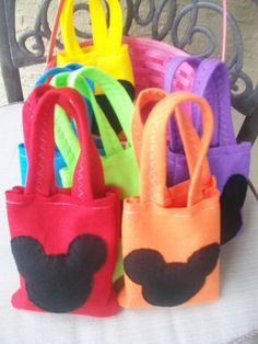 Mickey Mouse Party  Set of 6 Party bags by BellisimaSofia on Etsy