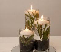 BY EVENT SCENE ADELAIDE. Styled for native Australian theme. Centrepiece, floating candle.
