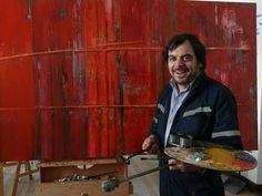 Francisco Zañartu. Abstraccion. Óleo y resina sobre lino. Año 2012
