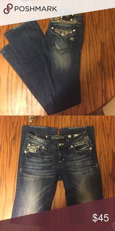 Miss Me Jeans Boot cut. Sequin flap pockets! Barely even worn; excellent condition. Miss Me Jeans Boot Cut