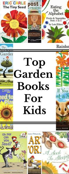 My favorite books to read with kids about gardening and growing their own food! A few even have metaphors for growing a good life. :)