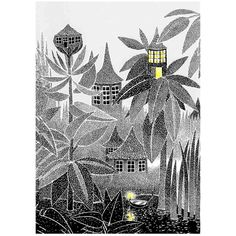 Image of Moomin Print - Glow in the Hut.