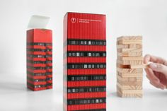 Jenga packaging by Zupagrafika packaging branding