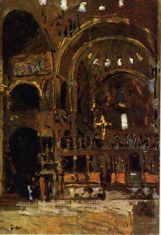 Walter Sickert Interior of St Mark's, Venice